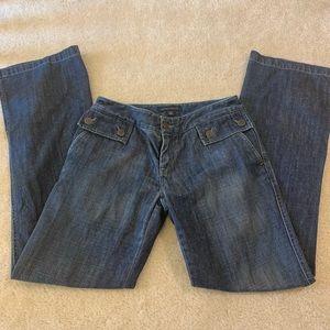 Banana republic flare jeans women's size 2